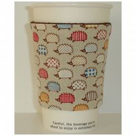 Hegehogs Coffee Cup Sleeve Cosy Cozy Hedgehog