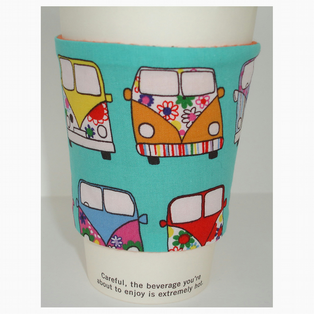 Coffee Cup Sleeve Cosy Cozy Gift for a Coffee Lover Campervans Campervan