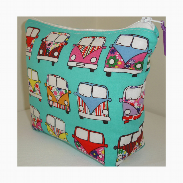 Make-up Cosmetic Toiletries Bag Purse Hippy Campervans Campervan Cosmetics