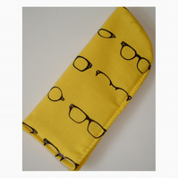 Designer Spectacles Glasses Case Selfridges Yellow and Black