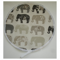 Grey Elephant Aga Hob Lid Mat Pad Hat Round Cover Surface Saver Elephants