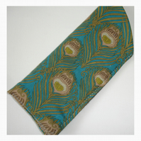 Glasses Case Spectacles Sleeve Liberty Caesar Turquoise Art Deco Peacock Feather