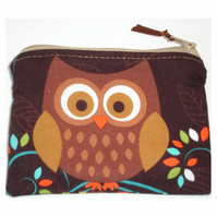 Tawny Brown Owl Purse