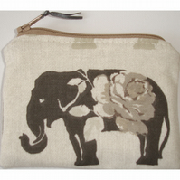 Elephant Zipped Coin Purse