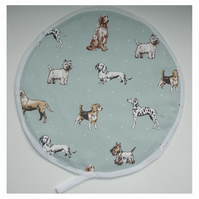 Aga Hob Lid Mat Pad Hat Round Cover Surface Saver Dogs Duck Egg