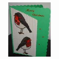 Christmas Card Robins