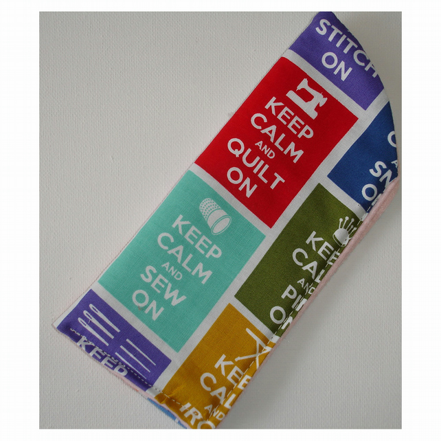 Glasses Case Spectacles Sleeve Keep Calm and Sew On