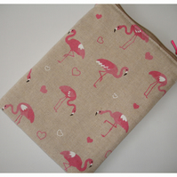 iPad Mini Tablet Case Pink Flamingo Flamingoes Cover Pouch Zipped Purse