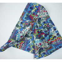 Liberty Pocket Square Blue Kandinsky Style