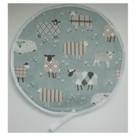 Aga Hob Lid Mat Pad Hat Round Cover With Loop Surface Saver Duck Egg Sheep