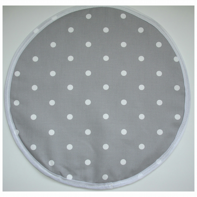 Seat Dot Pad Grey and White Polka Dots Polkadot Dot Spot Spots for Plastic Chair