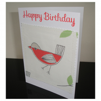 Birthday Card Bird Greetings Card Happy Birthday