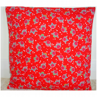 Cute Robins Christmas Cushion Cover Xmas