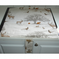 Mat Pad Cover Everhot 60 Range Stag Fox Squirrel Rabbit Pheasant Owl Wildlife