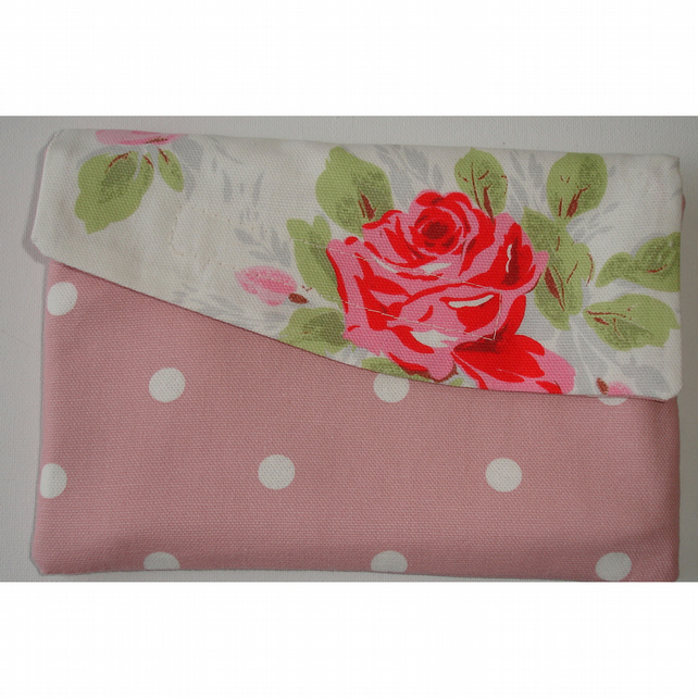 "Kindle Fire 7"" HD Case Cath Kidston Classic Rose Pink Polka Dots Roses"