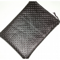 "Tablet or Kindle Fire 7"" Case Black Faux Leather Silver Bling"
