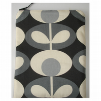 "Tablet or Kindle Fire HD or HDX 7 7"" Orla Kiely Grey Flowers"