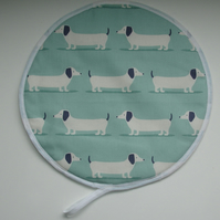 Aga Hob Lid Mat Pad Hat Round Cover Duck Egg Dachshunds Sausage Dogs