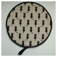 Cat Aga Hob Lid Mat Pad Hat Round Cover Surface Saver Black Cats