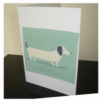 Dachshund Sausage Dog Daschund Notelet Card