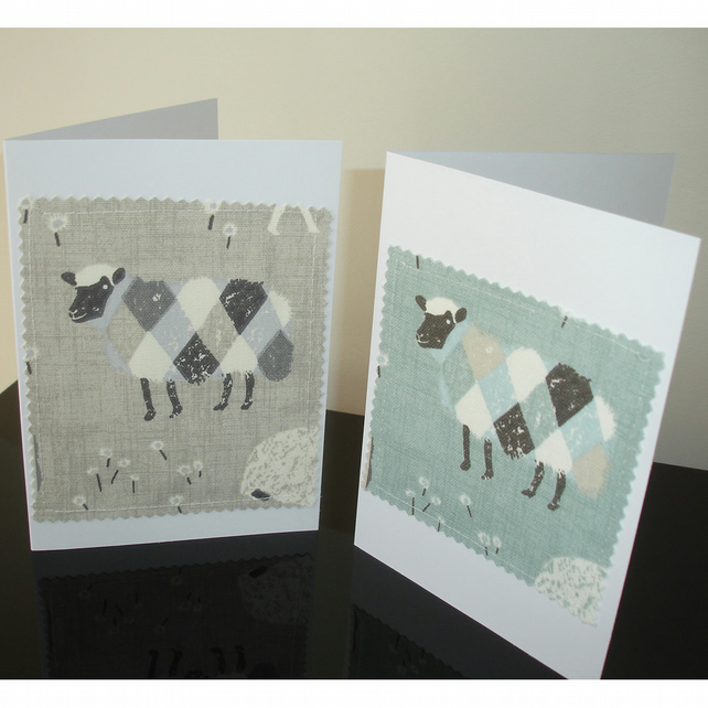 Pack of 4 Notelet Cards Sheep