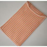 iPhone 7 or 8 Mobile Phone Case Orange and White Stripes