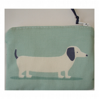 Sausage Dog Zipped Coin Credit Card Size Purse Dachshund