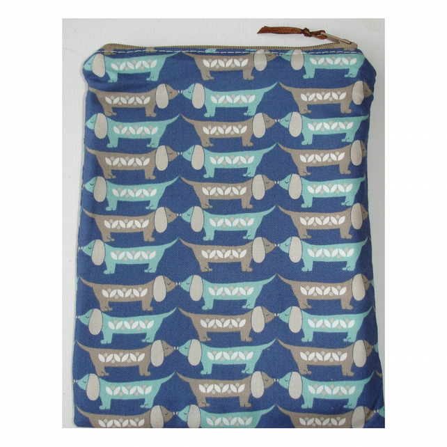 iPad Mini Tablet Zipped Purse Case Dachsund Sausage Dogs Dog Dachsunds