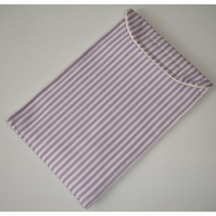 iPad Mini Case Cover Velcro Lilac Purple Stripes