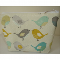 Birds Cosmetic Make Up Purse