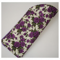 Purple Rose Glasses Case Liberty Roses Spectacles Sleeve