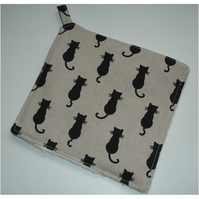 Black Cats Pot Holder Cat Potholder Kitchen Grab Mat Pad