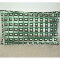 Christmas Pudding Cushion Cover 20x12 Oblong Bolster 12x20