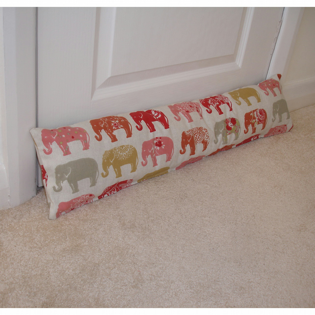 Draught Excluder Red Elephants