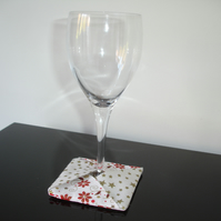 Wine Glass Coaster Christmas Fabric