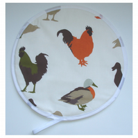 Aga Hob Lid Mat Pad Hat Cover Ducks Roosters Orange Brown