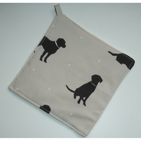 Labrador Dog Pot Holder Potholder Kitchen Grab Mat Pad Chocolate Brown Dogs