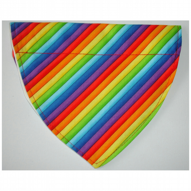 Dog Bandana Over The Collar Scarf Rainbow
