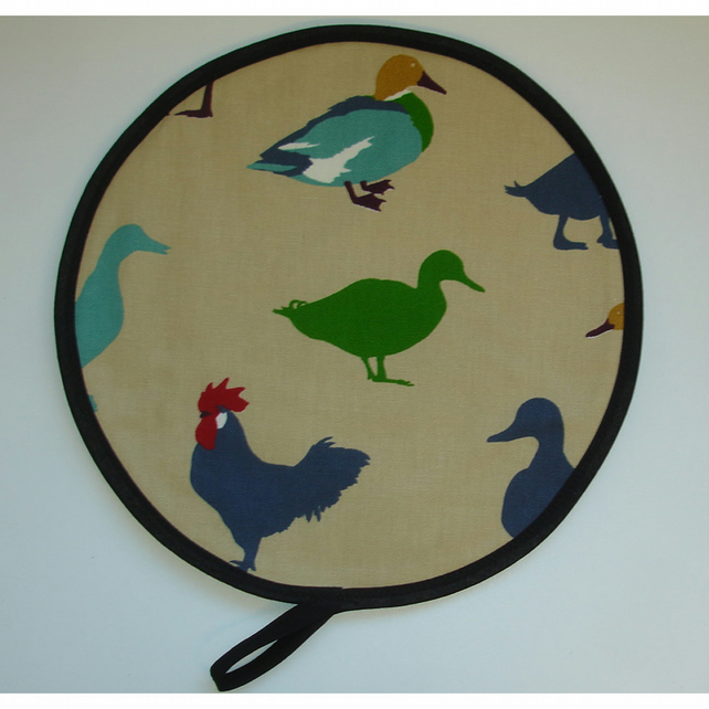 Aga Hob Lid Mat Pad Hat Cover Ducks Roosters Blue Green Red
