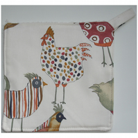 Pot Holder Potholder Kitchen Grab Mat Pad Hen Chicken