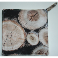 Pot Holder Wooden Log Potholder Kitchen Grab Mat Pad Rustic Kitchen