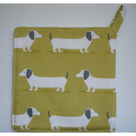 Pot Holder Dachshund Potholder Kitchen Grab Mat Pad