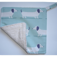 Pot Holder Dachshund Potholder Kitchen Grab Mat Pad Duck Egg Blue