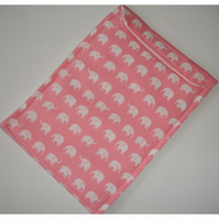 "Kindle Touch 6"" Paperwhite Case Cover Velcro Pink Elephants"