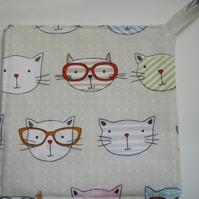 Cats in Glasses Pot Holder Cat Potholder Kitchen Grab Mat Pad