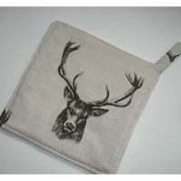 Stag Head Pot Holder Potholder Kitchen Grab Mat Pad Stags Antlers