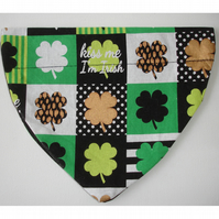 Dog Bandana Over The Collar Scarf St Patrick's Day Irish Shamrock Ireland