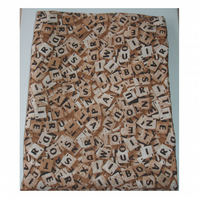 "Tablet or Kindle Fire HD or HDX 7 7"" Case Scrabble Letters Sleeve Cover"