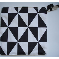 Pot Holder Potholder Kitchen Grab Mat Pad Black and White