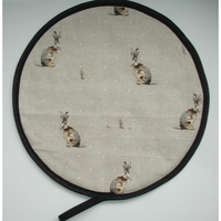 Aga Hob Lid Mat Pad Hat Round Cover With Loop Surface Saver Hartley Hare Rabbit